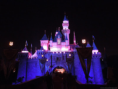 Disneyland Sleeping Beauty Castle Fantasyland night lights