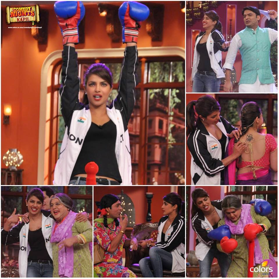 Priyanka Chopra on the sets of Comedy Nights With Kapil