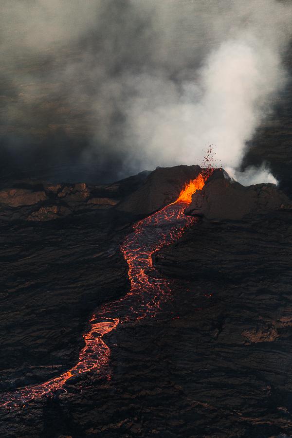 giant lava cake - the smaller Krakkinn crater