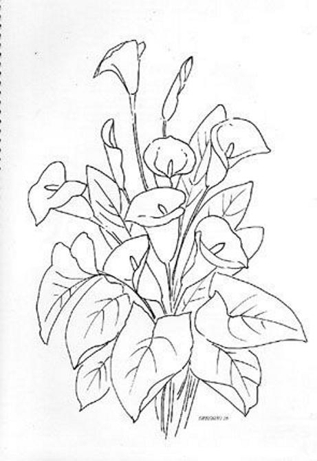 Dibujos Y Plantillas Para Imprimir De Flores