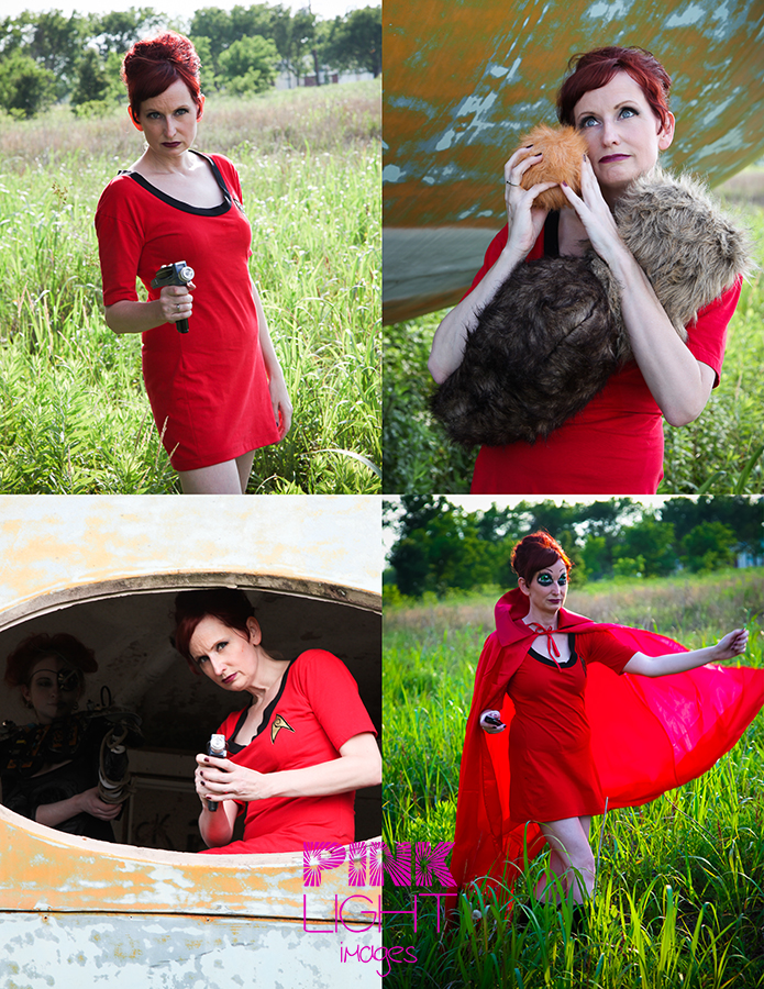 Star Trek Photo Shoot with tribbles, phase and capes