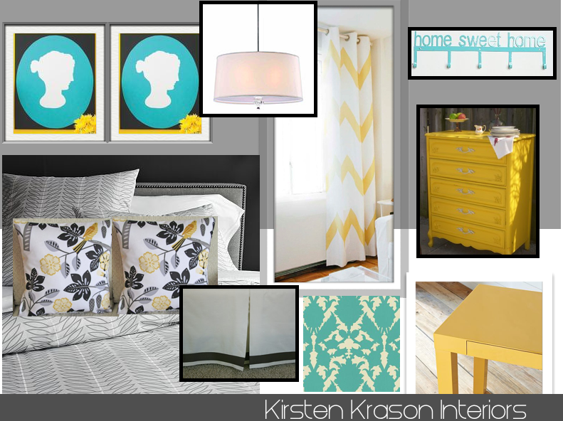 Attractive We Went With A Yellow, Gray And Teal Color Scheme. This Room Required A Lot  Of DIY Projects But Elsa Was Up For The Challenge! In Between The Designing  ...