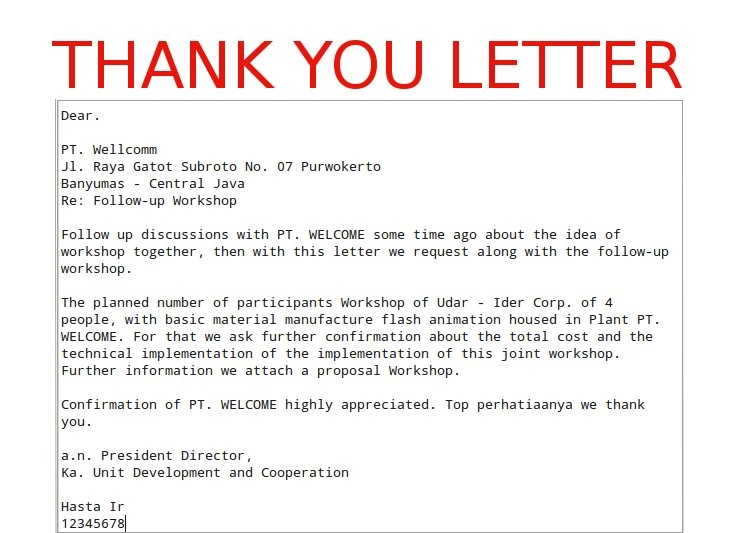 Sample Thank You Letter To Employees  Examples In Word Professional