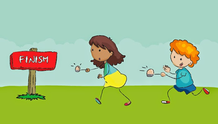 Image result for Spoon race with a hard egg games kids