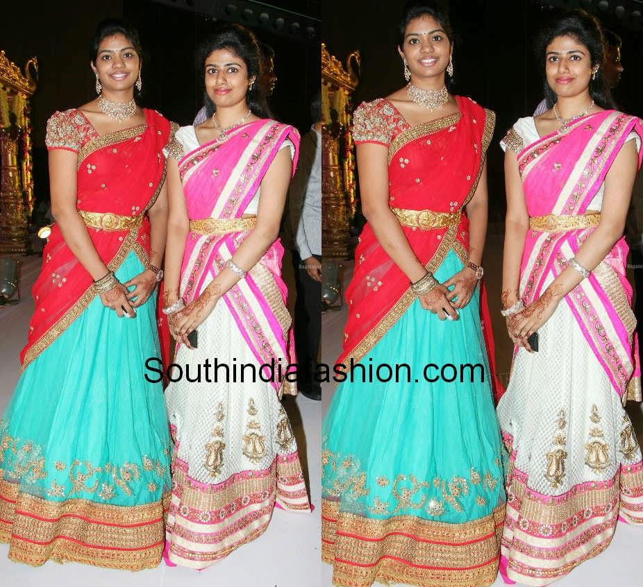 celebrity half sarees