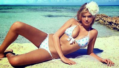 Kate Upton topless in beach bunny bride sexy bikini models photo shoot