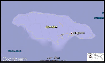 Mapa de Jamaica, Google Earth