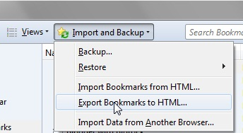 Export Bookmarks to HTML
