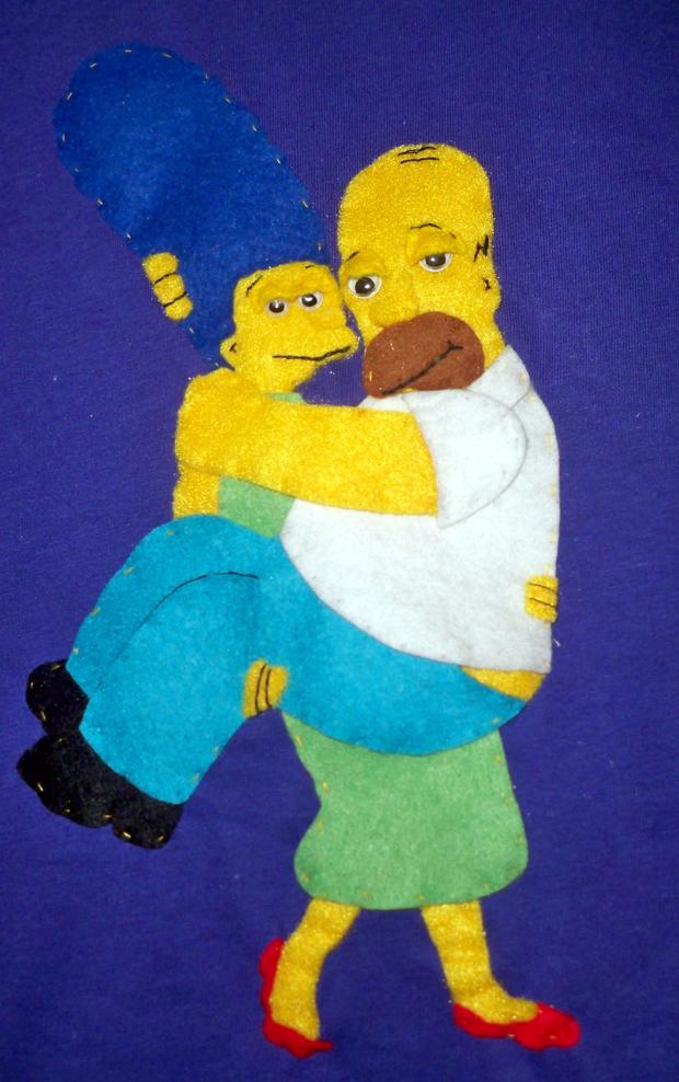 Detalle Marge y Homer