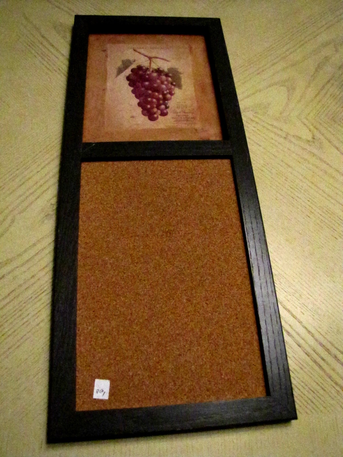 Dry Erase Calendar And Cork Board : The evolution of home fabric covered cork board message