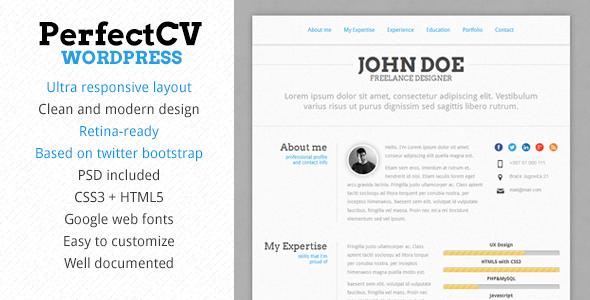 Descargar] Plantilla Wordpress PerfectCV – Curriculum Vitae ...