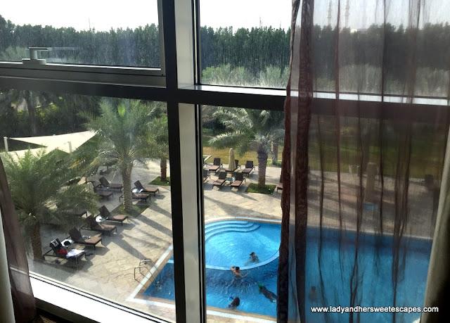 outdoor pool at Centro Sharjah hotel