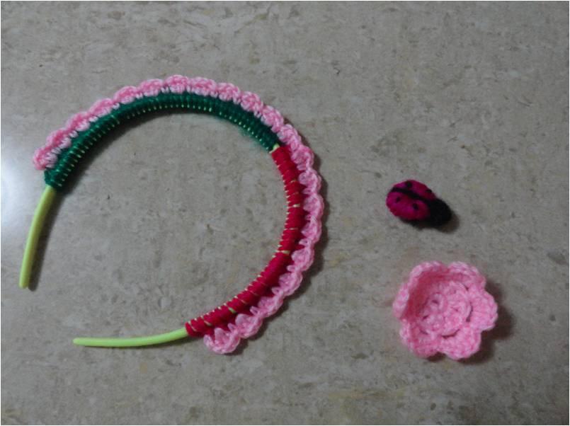 Diademas Tejidas A Gancho. Diadema O Vincha De Nia Tejida A Crochet ...
