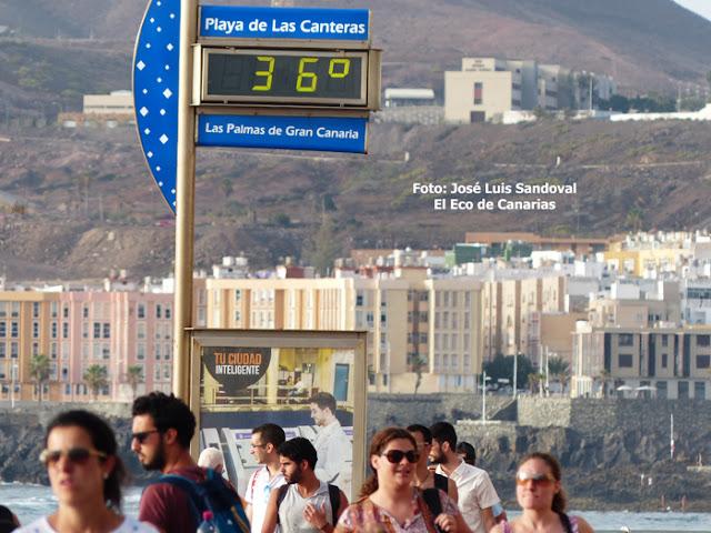 suben temperaturas Gran Canaria martes 13 agosto