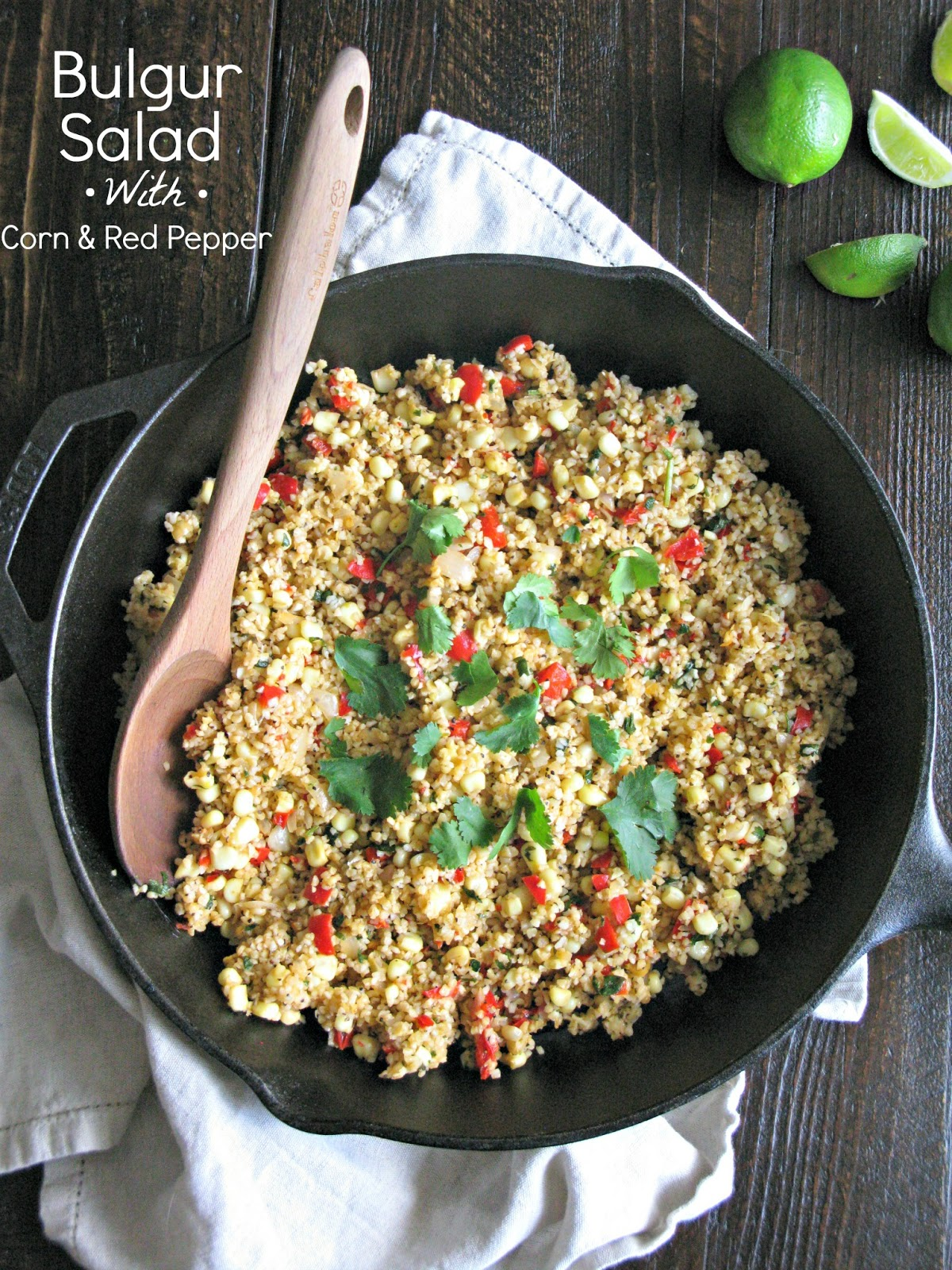 Bulgur Salad With Chickpeas And Red Peppers Recipe — Dishmaps