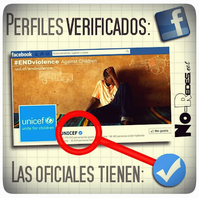 Redes sociales, perfiles verificados en Facebook