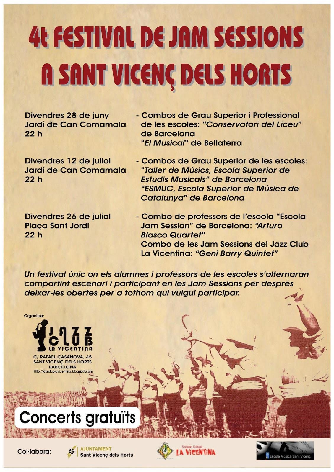 4rt FESTIVAL DE JAM SESSIONS a Sant Vicenç dels Horts