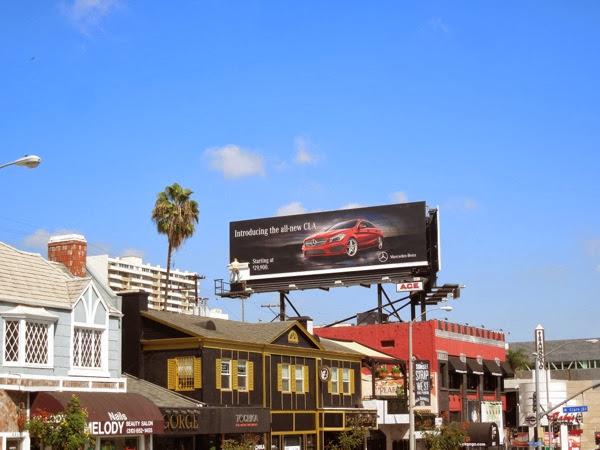 Mercedes-Benz new CLA 3D mannequin billboard ad
