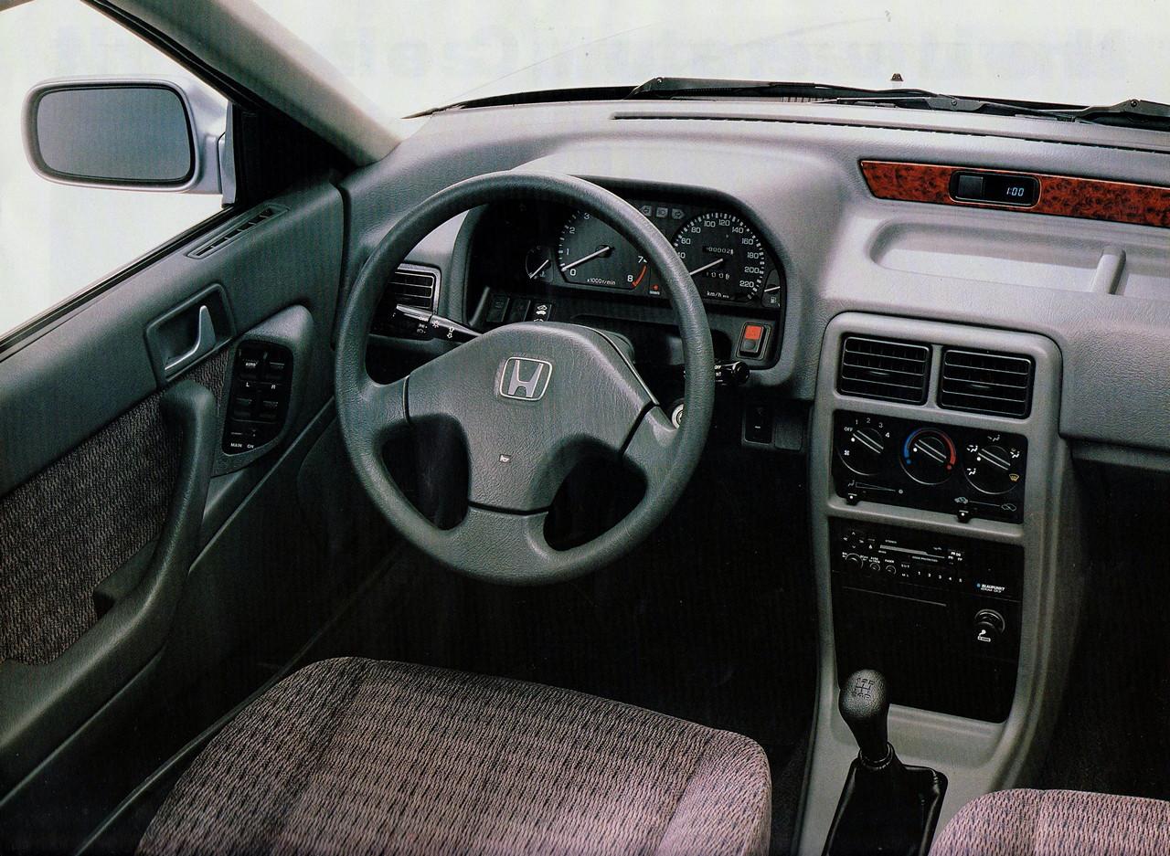 Honda Concerto, wnętrze, środek, interior, fotele, tapicerka