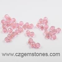 teardrop pink cz beads wholesale