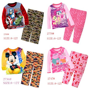 2016 Big Size Sleepwear (8t to 12t)