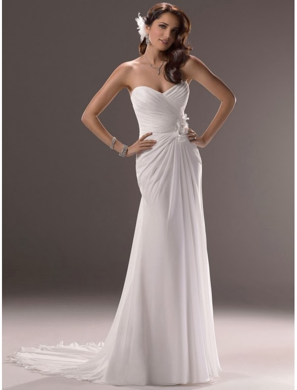 Rainingblossoms simple wedding gowns can also be striking for Chiffon sweetheart wedding dress