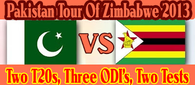 Pakistan tour of Zimbabwe schedule