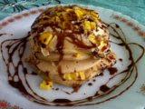 Pancake Nangka Saus Cokelat