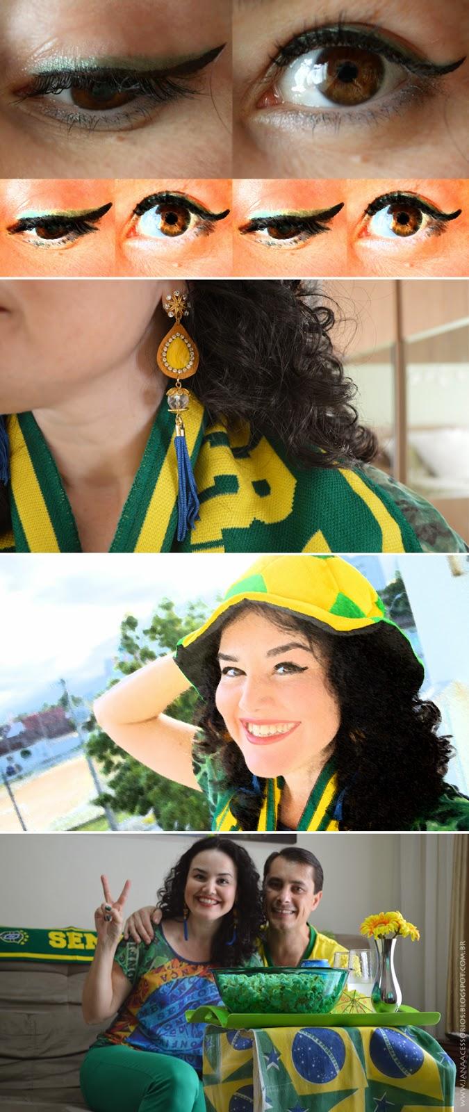 Copa do Mundo, Brasil, brasilidade, verde, amarelo, cantinho, look, blogueira, blogger, joinville, sc,