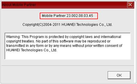 Mobile Partner 23.002.08.03.45 Indian Version