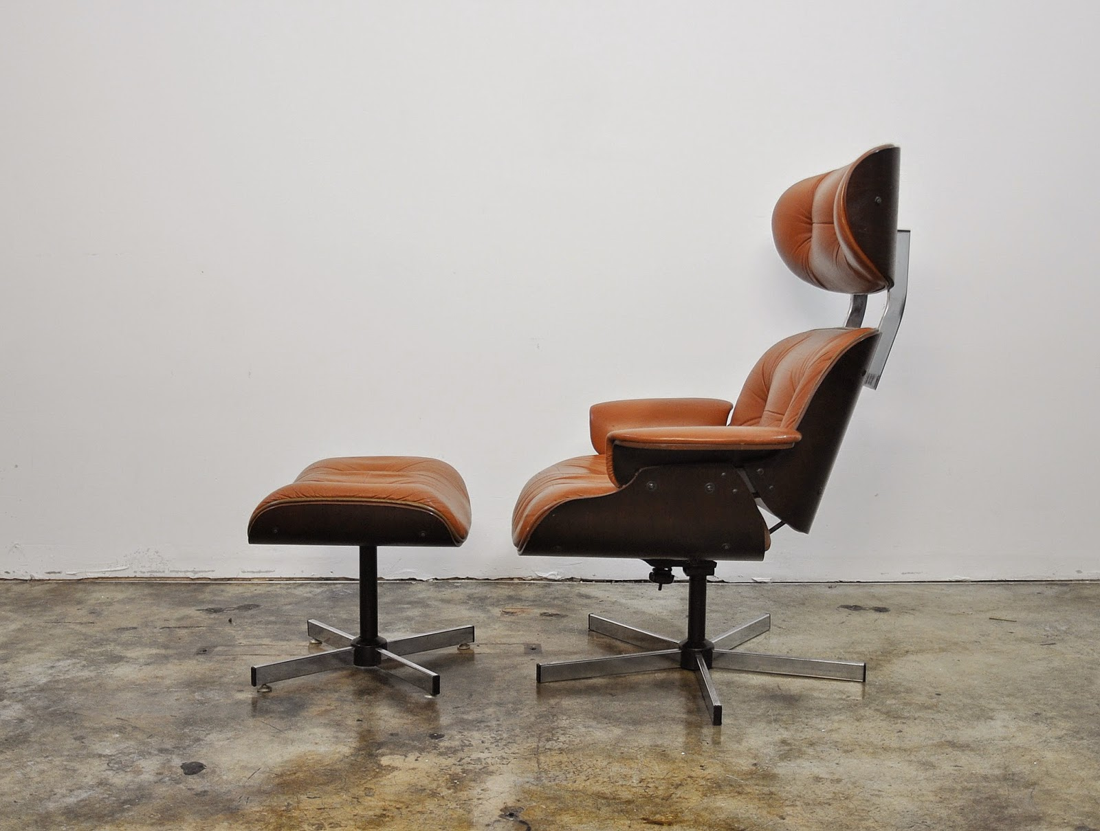 Select modern eames leather lounge chair ottoman - Selig eames chair ...
