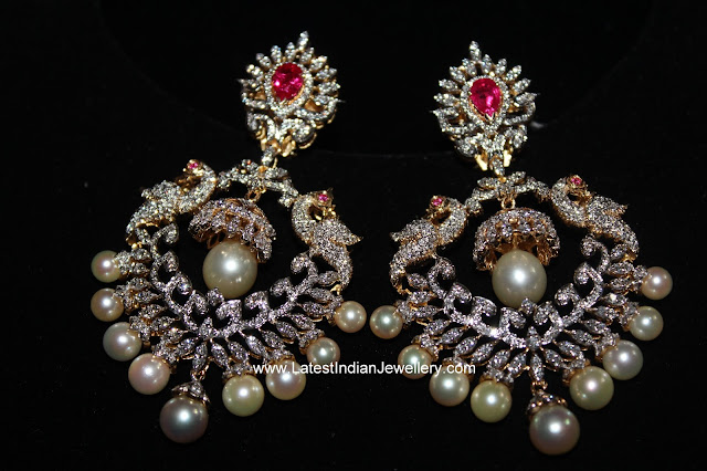 Diamond ChandBali Earrings
