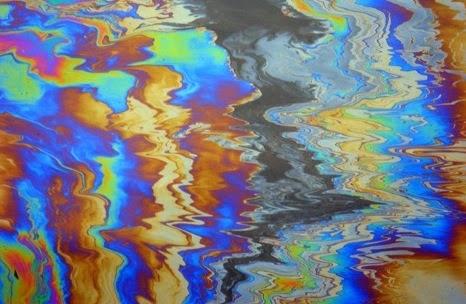 الوان المياه المخلطة بالصرف الكماوية