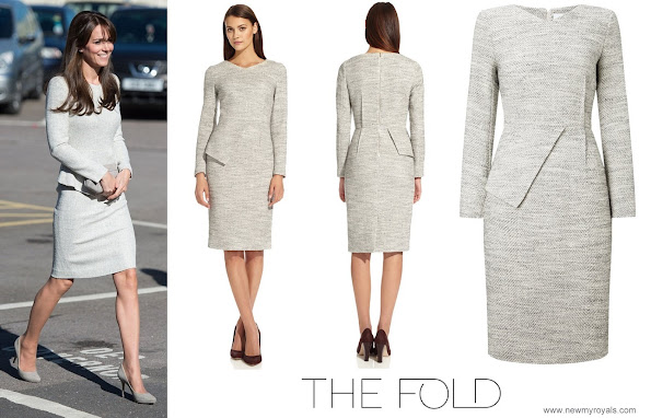 Kate Middleton wore a silver The Fold tweed dress