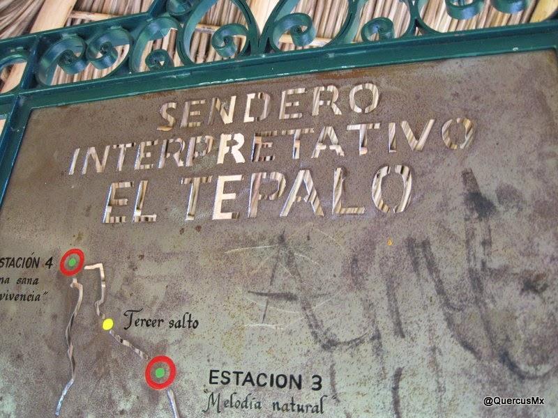 Mapa del sendero Interpretativo El Tepalo