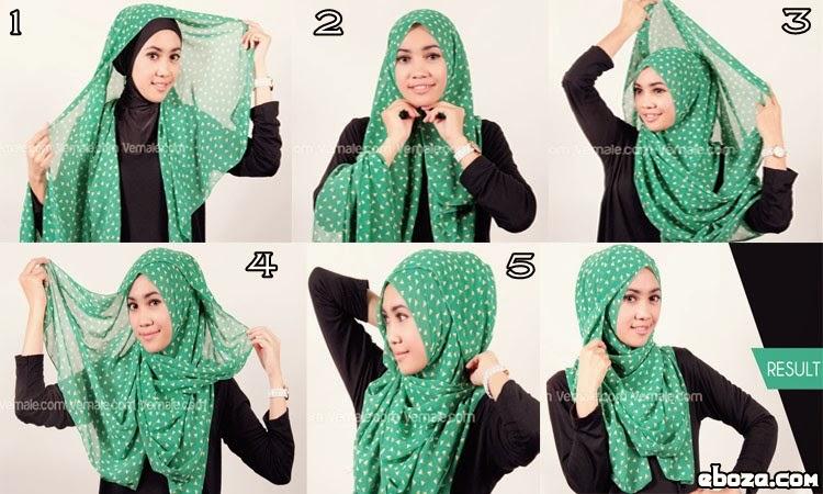 Cara memakai Jilbab modis Pashmina