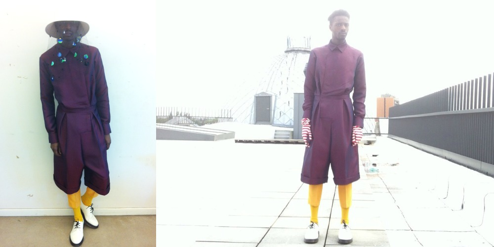 Jonthegold Modeling for Rushemy Botter N.W.E. COLLECTION - Designer at the Royal Academy of Fine Arts Antwerp. Haute Couture men collection inspired by Yves Saint Laurent, Balenciaga, Dior. Because Black Men can pull it off high fashion menswear