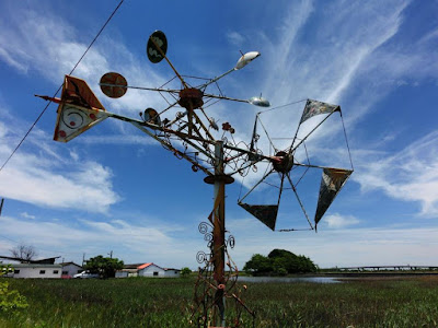 An artful windmill in Xincuozai Chiayi