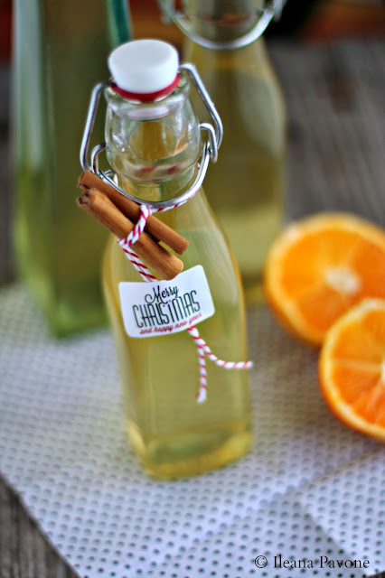 idee regalo: liquore all'arancia e cannella