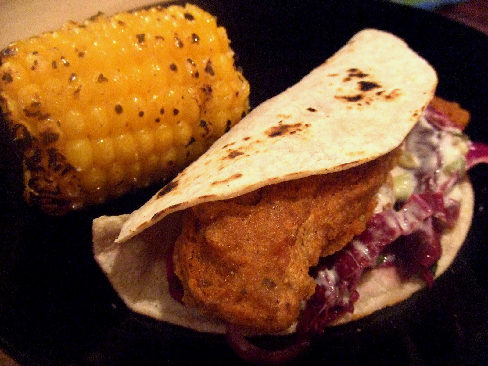 The v word tempeh fish tacos zesty lime corn and for Suggestions for sides for fish tacos