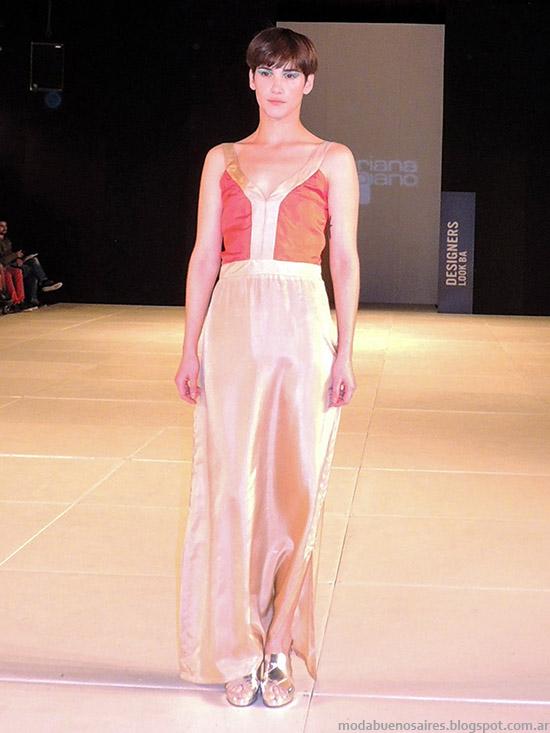 Mariana Dappiano primavera verano 2015. Moda primavera verano 2015 vstidos de diseño.