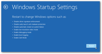 open advanced start menu
