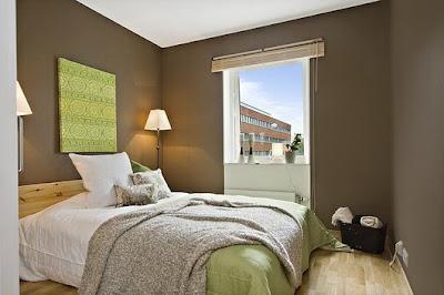 decoración habitación colores neutros
