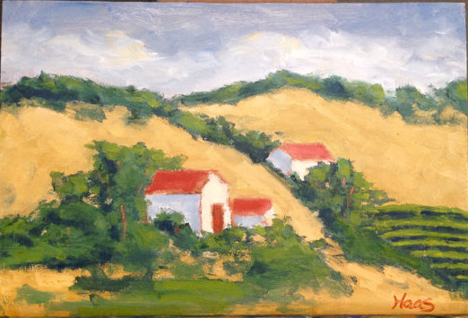 Frontage Road Vineyard, Plein Air