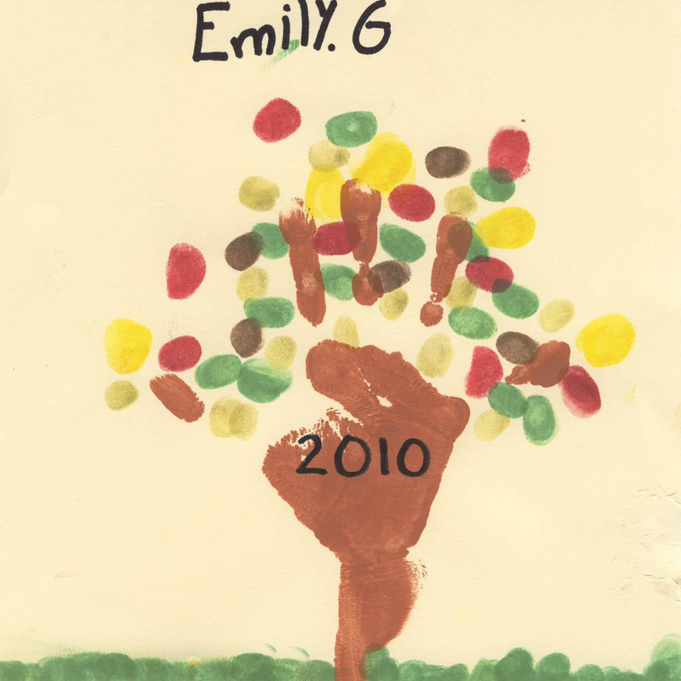 Children S Calendar Ideas To Make : Budding artists handprint art