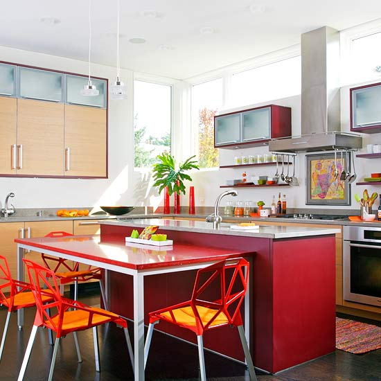 colorful kitchen islands home interior and exterior design
