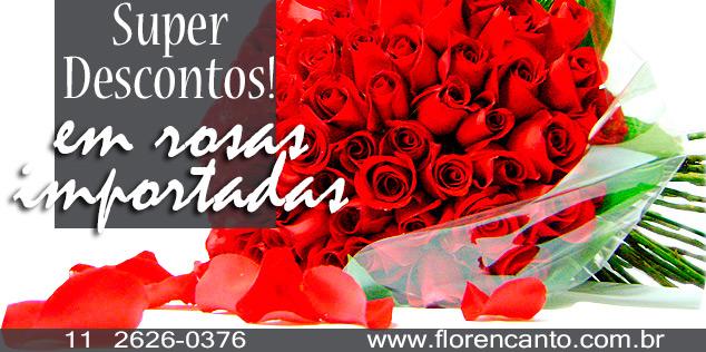 Rosas importadas em promoção