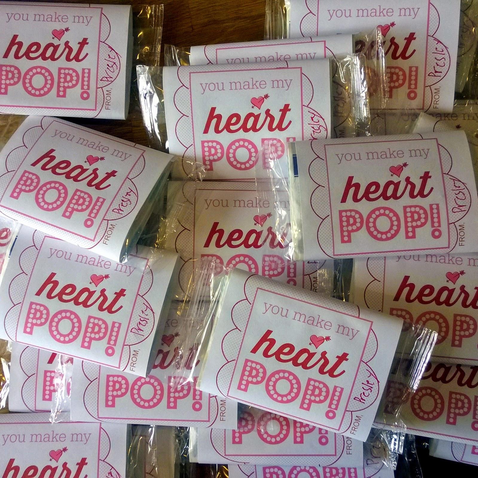 Valentine microwave popcorn