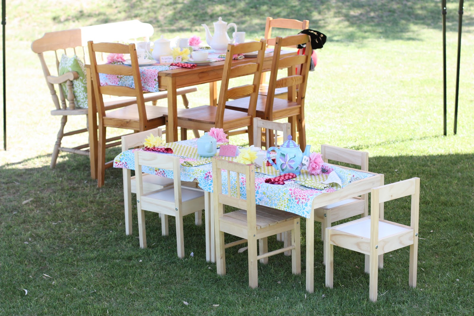 Kids tea party table - Mother Daughter Tea Party 3rd Birthday Brunch