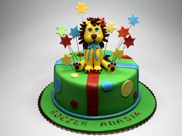 Children Birthday Cake with Lion , Chelsea London